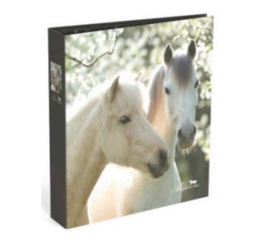 Smalle paarden ordner met 2 ringen