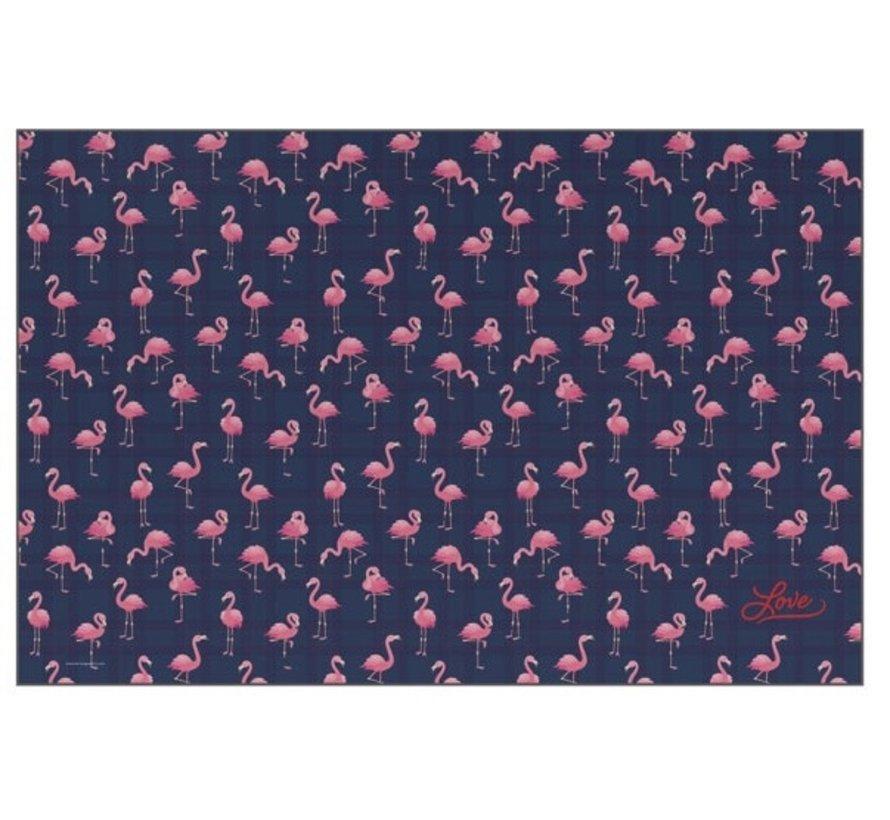 Buro onderlegger / deskmat - flamingo