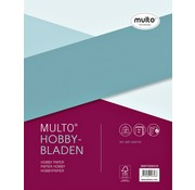 Multo Hobbybladen - wit karton 140g