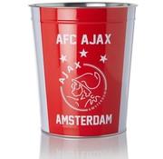 Ajax Prullenmand - rood/wit