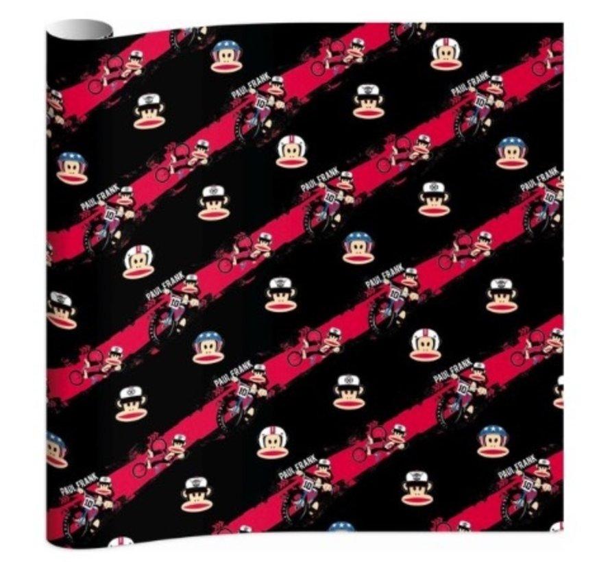 Boy kaftpapier - zwart/rood