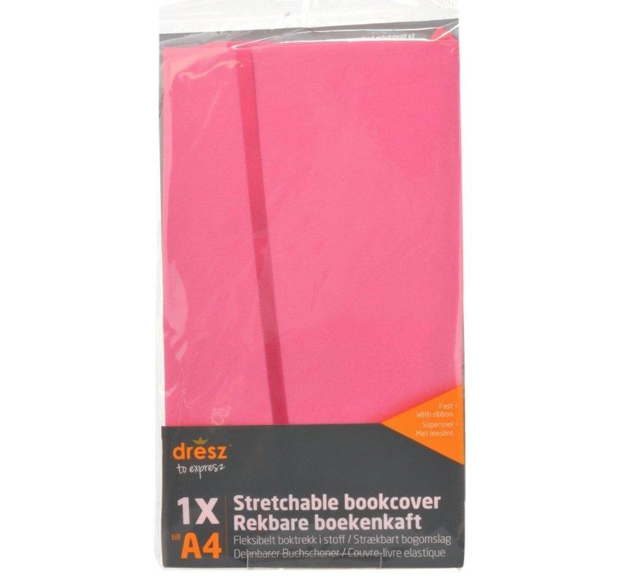 Rekbare kaft A4 - pastel roze