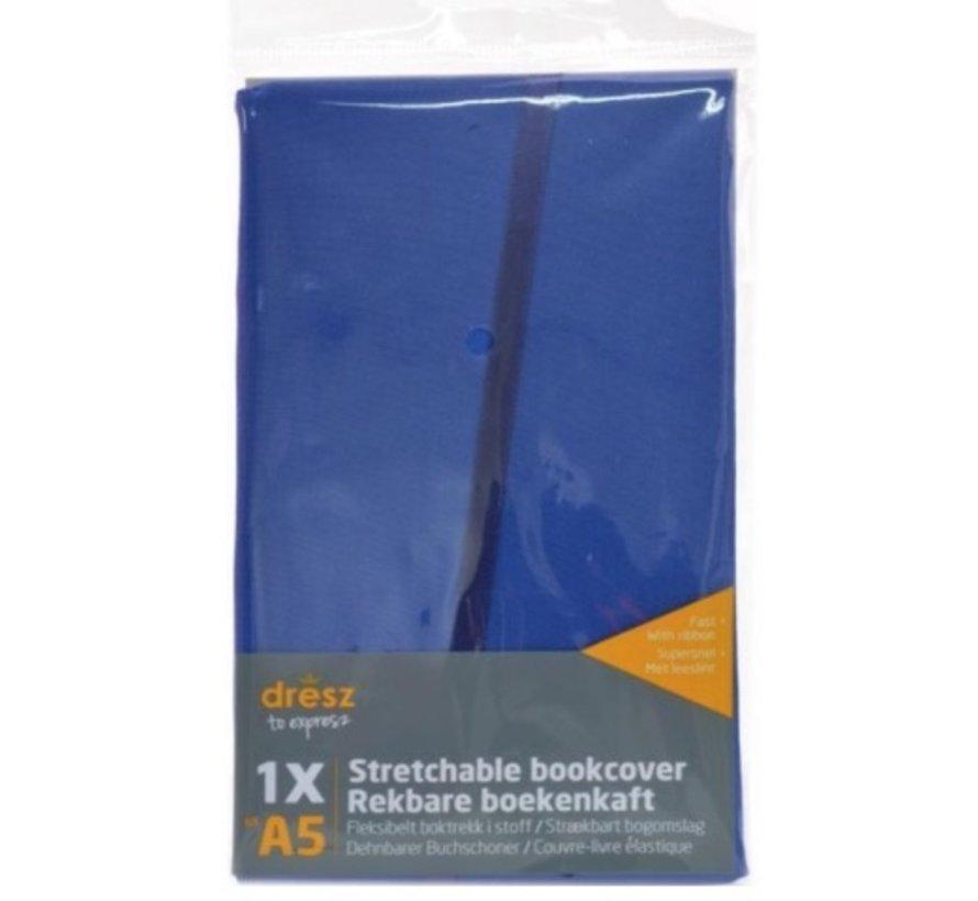 Rekbare kaft A4 - blauw
