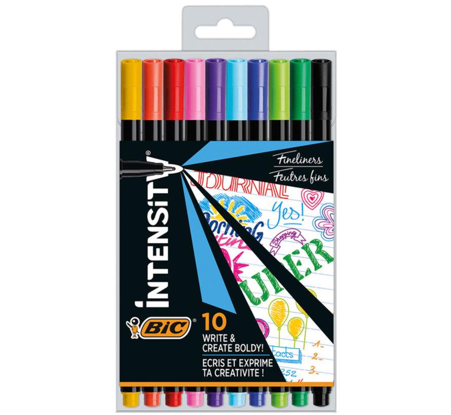 Intensity fine fineliners - 10 stuks