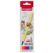 Bruynzeel Fineliner 6st - neon kleuren