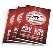 PSV A5 schriften lijn - 3 stuks