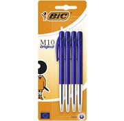 Bic M10 balpennen - 4 x blauw