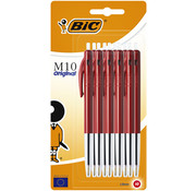 Bic M10 balpennen - 10 x rood