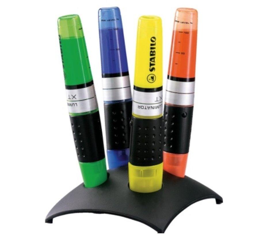 Luminator markeerstiften - 4 stuks desk set