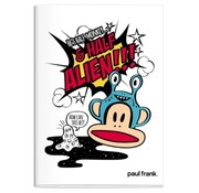 Paul Frank A4 ruitjes schrift - wit