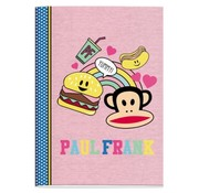 Paul Frank A4 ruitjes schrift - hamburger
