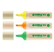 Edding 24 Eco markeerstiften 3st  - geel - oranje - groen