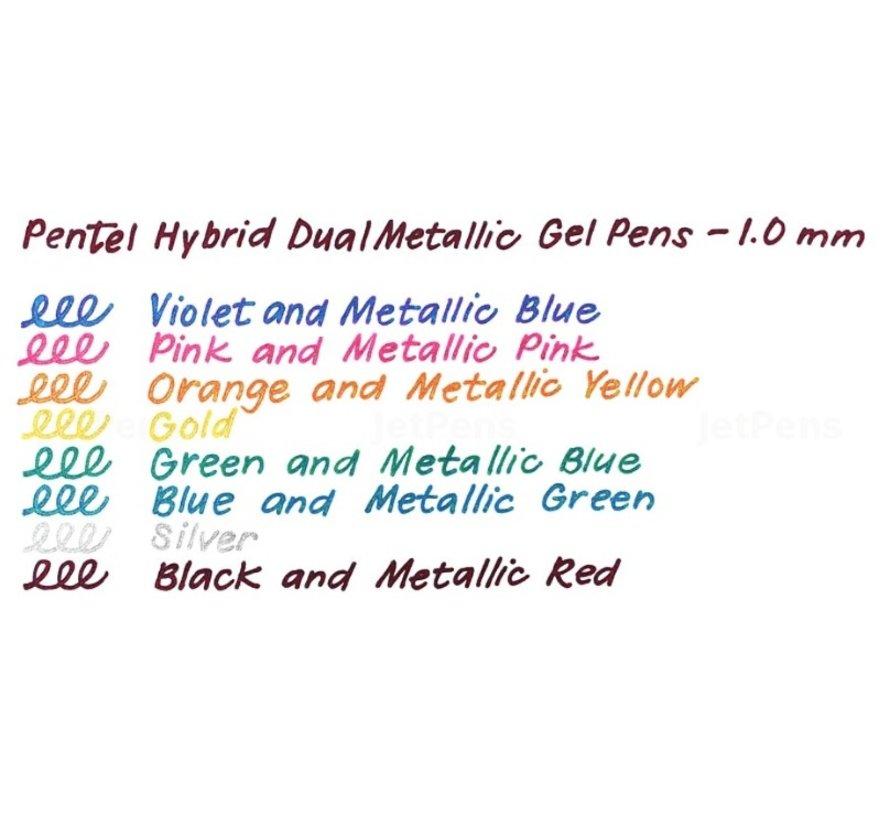 Sparkling metallic dual tone gelpennen