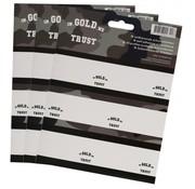 In gold we trust Etiketten - 18st