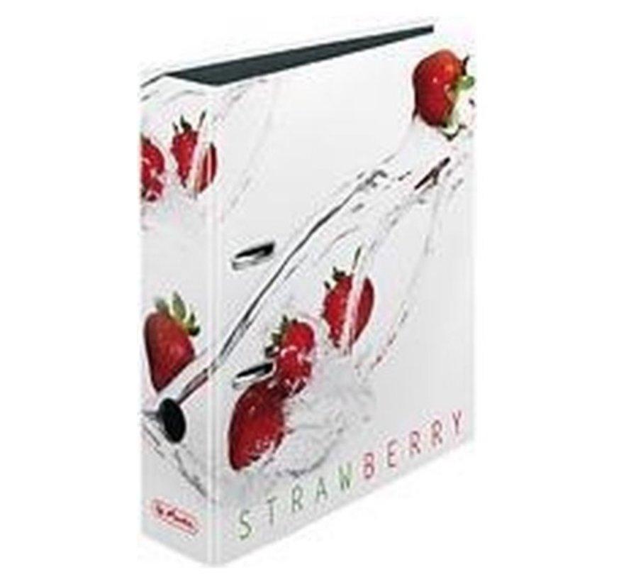 Ordner wit 2 rings - strawberry