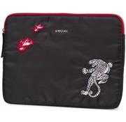 Supertrash Laptop / tablet sleeve - black tiger