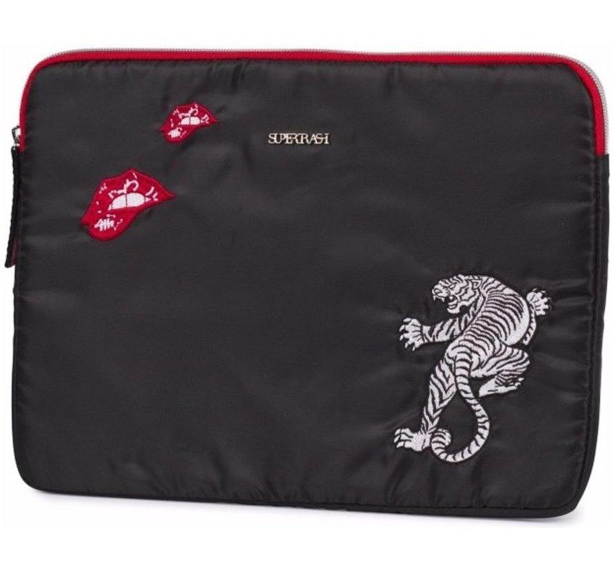 Laptop/ tablet  sleeve - black tiger