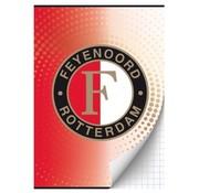 Feyenoord A4 ruitjes schrift - rood/wit