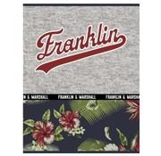 Franklin & Marshall A4 lijntjes schrift - flowers black