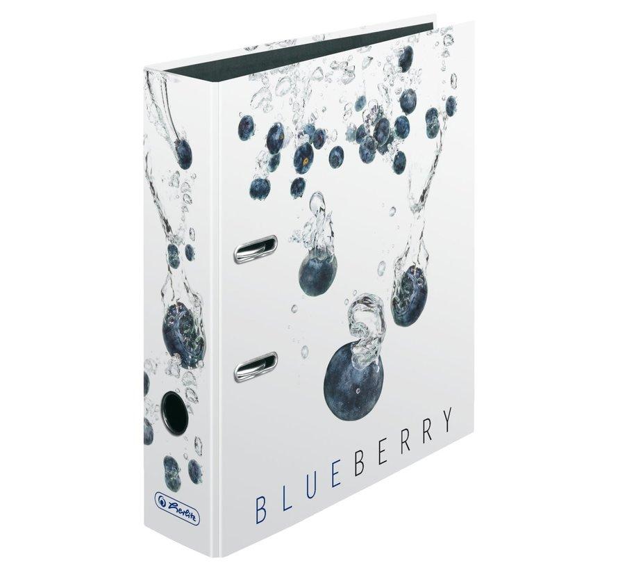 Ordner wit 2 rings - blueberry