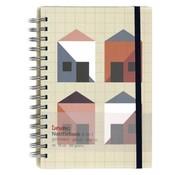 Natural / kraft Notitieboek - 4 in 1 - lijn, ruit, blanco