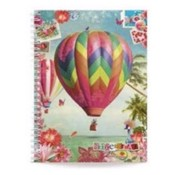 Gingerbread Notitieboek A5 lijn - luchtballon
