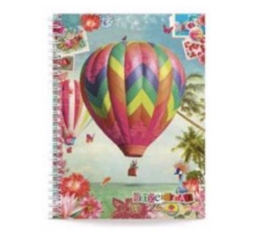 A5 notitieboek gelinieerd - luchtballon