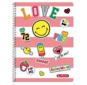 Smileyworld Spiraalschrift A4 5 mm geruit - love