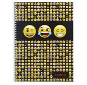 Emoji Spiraalschrift A4 5 mm geruit - geel/zwart