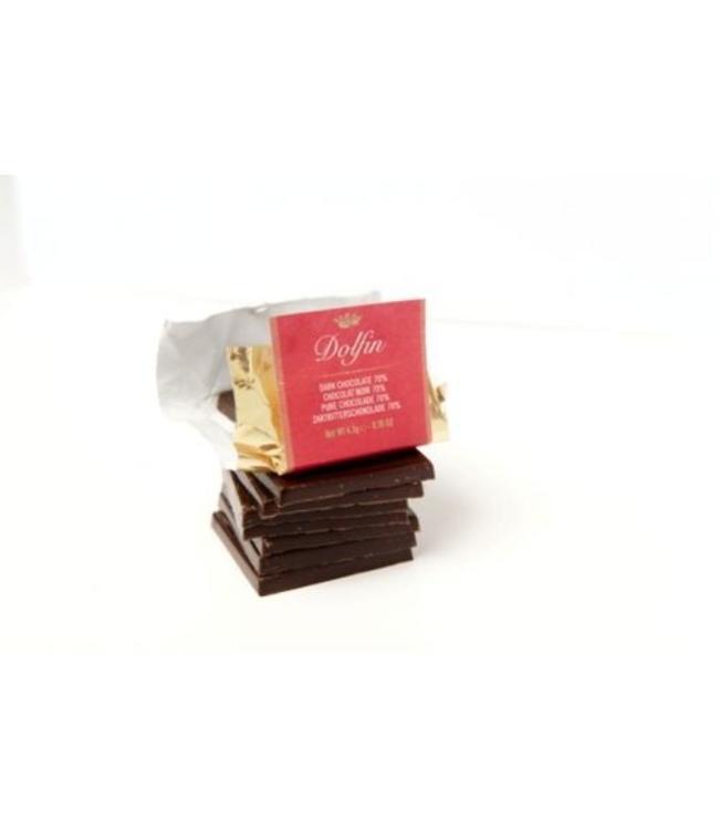 Dolfin Chocolade Dolfin - Napolitain Mix - 25x 5g melk en zwart 70%
