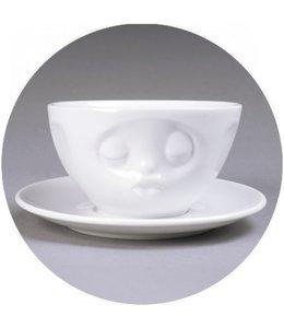 Tassen  'Tassen' kop en schotel, wit - Kus