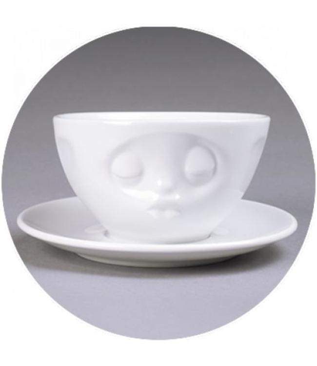 'Tassen' kop en schotel, wit - Kus