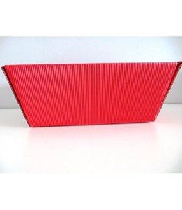 Geschenkmand rechthoekig - 26x21x10cm - rood