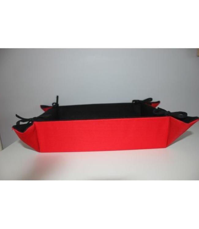 geschenkmand rechthoekig - 40x30x9cm - rood