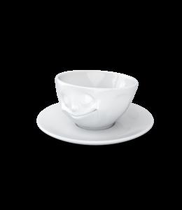 Tassen  'Tassen' kop en schotel, wit - Geluk - Espresso