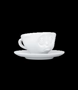 Tassen  'Tassen' kop en schotel, wit - Oh Please - Espresso