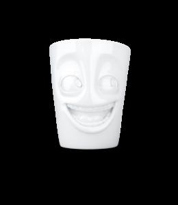 Tassen  'Tassen' mok met handvat, 350ml, wit - Grappig
