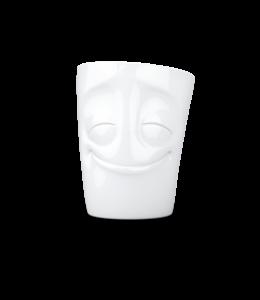 Tassen  'Tassen' mok met handvat, 350ml, wit - Vrolijk