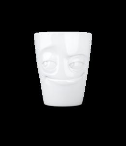 Tassen  'Tassen' mok met handvat, 350ml, wit - Ondeugend