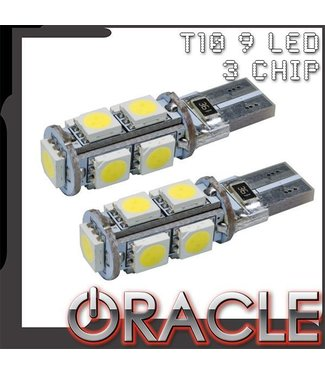 Oracle Lighting ORACLE T10 9 LED 3-Chip SMD Bulbs (Pair)