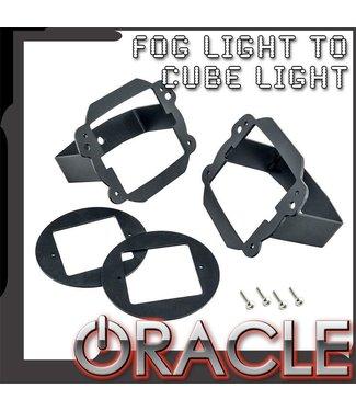 Oracle Lighting ORACLE Jeep JK Fog Light to Cube Light Conversion Mount Brackets (Pair) w/ Bezel