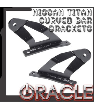 "Oracle Lighting 2004-2014 Nissan Titan ORACLE Curved 50"" LED Light Bar Brackets"