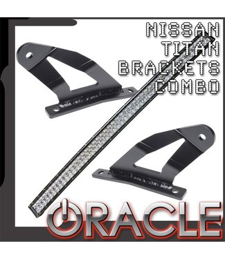 "Oracle Lighting 2004-2014 Nissan Titan ORACLE Curved 50"" LED Light Bar Brackets + Light Combo"