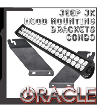 Oracle Lighting ORACLE Jeep JK Hood Mounting Brackets SM + Light Combo