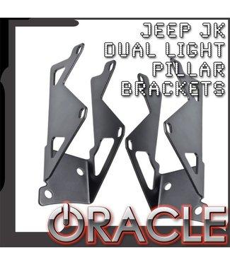 Oracle Lighting ORACLE Jeep JK Dual Light Mounting Pillar Brackets (Pair)