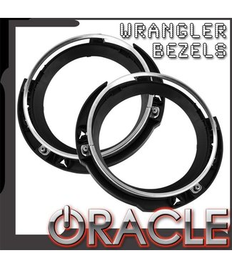 Oracle Lighting ORACLE Jeep Wrangler Headlight Bracket+Bezel (Pair)