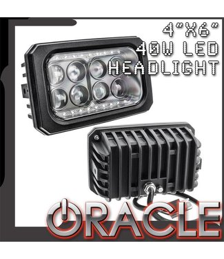 "Oracle Lighting ORACLE 4"" x 6"" 40W Replacement LED Headlight"