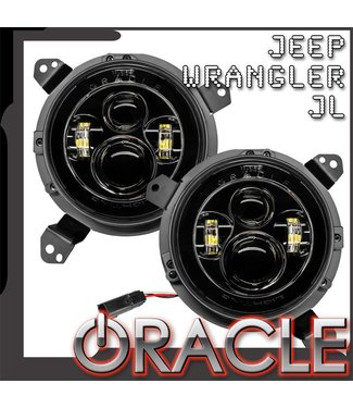 "Oracle Lighting ORACLE Jeep Wrangler JL 7"" High Powered LED Headlights (Pair)"