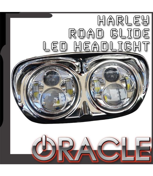 Oracle Lighting ORACLE Harley Road Glide Replacement LED Headlight - Chrome