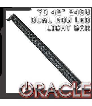 "Oracle Lighting ORACLE Black Series - 7D 42"" 240W Dual Row LED Light Bar"